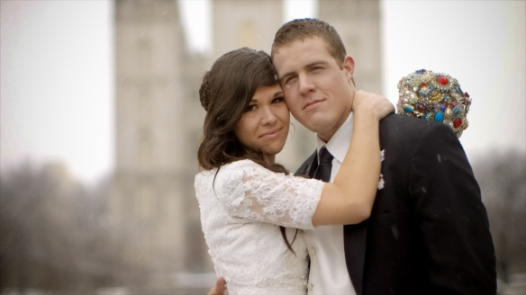 Screen shot taken from Dena + Alex Wedding Video
